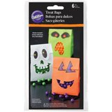 WILTON TREAT BAGS HALLOWEEN WITH STICKER PK/6_