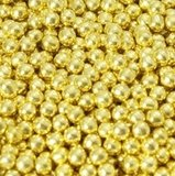 Suikerparels Metallic Goud 4mm_