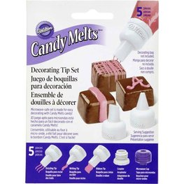 WILTON CANDY MELT DECORATING TIP SET/5