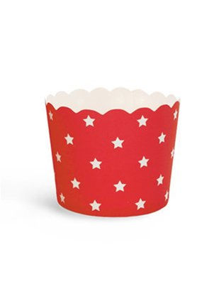 Backing Cups rood witte ster