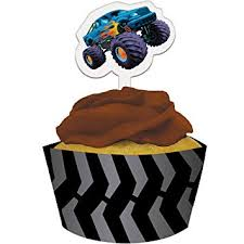Monstertruck Cupcake wrappers