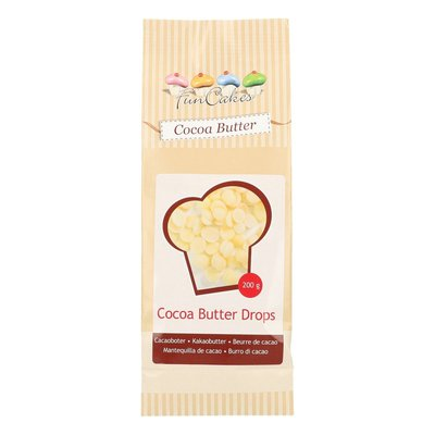 FUNCAKES CACAOBOTER DROPS 200G