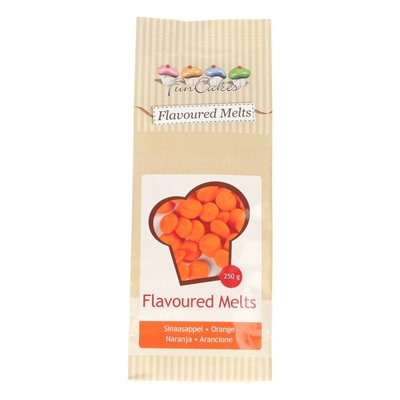 CHOCOLADE FLAVOURED MELTS ORANGE -250G-