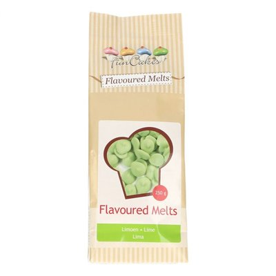 FUNCAKES CHOCOLADE FLAVOURED MELTS LIME -250G-