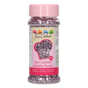 FUNCAKES CONFETTI METALLIC  -Purple- 70G