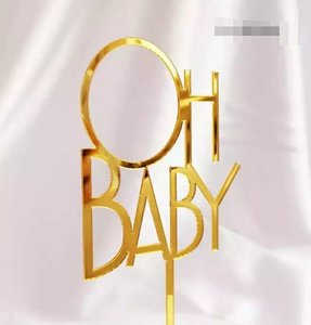OH BABY Text cake topper