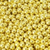 Suikerparels Metallic Goud 4mm